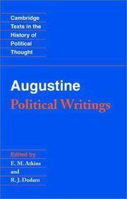 Augustine: Political Writings (Cambridge Texts in the History of Political Thought)