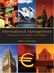 image of International Management: Managing Across Borders And Cultures, 5th