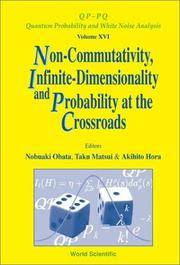 Non-Commutativity, Infinite Dimensionality and Probability at the Crossroads: Proceedings of the...