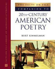 THE FACTS ON FILE COMPANION TO 20TH CENTURY AMERICAN POETRY (HB 2005)