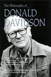 The Philosophy of Donald Davidson - The Library of Living Philosphers - Volume XXVII