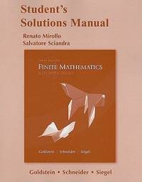 Student Solutions Manual For Finite Mathematics  Its Applications