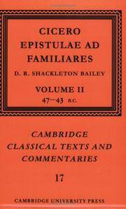 image of Cicero: Epistulae ad Familiares: Volume 2, 47-43 BC (Cambridge Classical Texts and Commentaries)