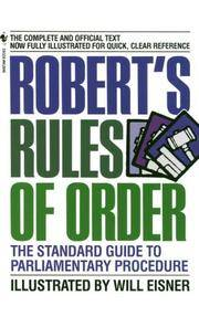 image of Robert's Rules of Order: The Standard Guide to Parliamentary Procedure