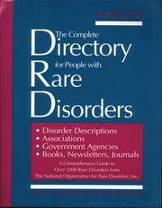 Complete Directory For People With Rare Disorders, 1998/99, The