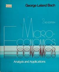 Microeconomics: Analysis and applications