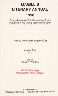 Magill's Literary Annual 1998