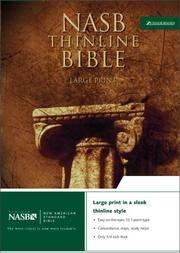 NASB Thinline Bible, Large Print