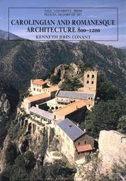 Carolingian and Romanesque Architecture, 800-1200 (The Yale University Press Pelican History of Art) by Kenneth J. Conant - Paperback - 4 - 1992-12-04 - from Ergodebooks and Biblio.com