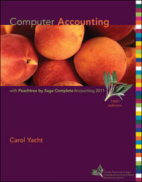 Computer Accounting with Peachtree, 2011