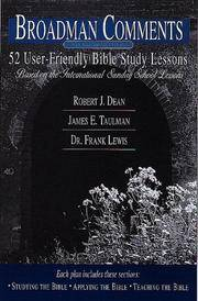 Broadman Comments, December 1999-January, February 2000: 13 User-Friendly Bible Study Lessons