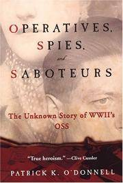 image of Operatives, Spies, and Saboteurs: The Unknown Story of World War II's OSS