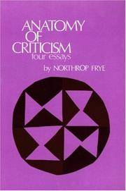 image of ANATOMY OF CRITICISM: Four Essays