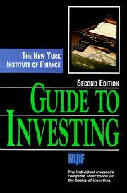 The New York Institute of Finance Guide to Investing