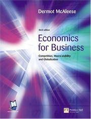 Economics For Business: Competition, Macro-stability & Globalisation