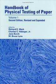 HANDBOOK OF PHYSICAL TESTING OF PAPER VOL.1