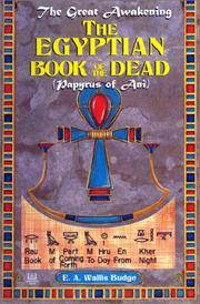 image of EGYPTIAN BOOK OF THE DEAD: The Papyrus Of Ani--Egyptian Text Transliteration & Translation