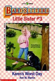 image of Karen's Worst Day (Baby-Sitters Little Sister, 3)