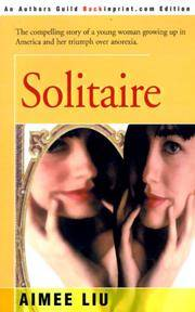 image of Solitaire: The compelling story of a young woman growing up in America and her triumph over anorexia.