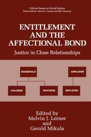 Entitlement and the Affectional Bond: Justice in Close Relationships