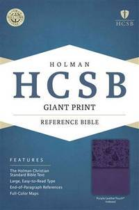 HCSB Giant Print Reference Bible, Purple Leathertouch Indexed