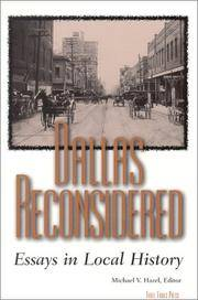 Dallas Reconsidered Essays in Local History