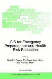 GIS for Emergency Preparedness and Health Risk Reduction (Nato Science Series: IV:)