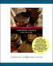 Principles of Corporate Finance: WITH Student CD, Ethics in Finance PowerWeb AND Standard and Poor's by Richard A. Brealey - 2005-04-01 - from Books Express and Biblio.com