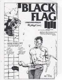 Black Flag at Hong Kong Cafe (1979 Concert Flyer)
