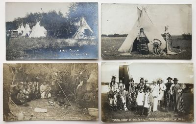 [Various places in Saskatchewan, 1919. Very good.. Four real photo postcards. All captioned in the i...