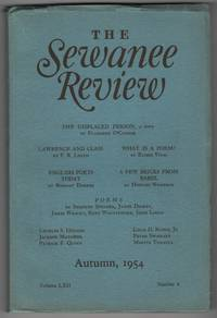 The Sewanee Review, Volume 62, Number 4 (LXII; Autumn 1954); contains original appearance of The Displaced Person by Flannery O'Connor