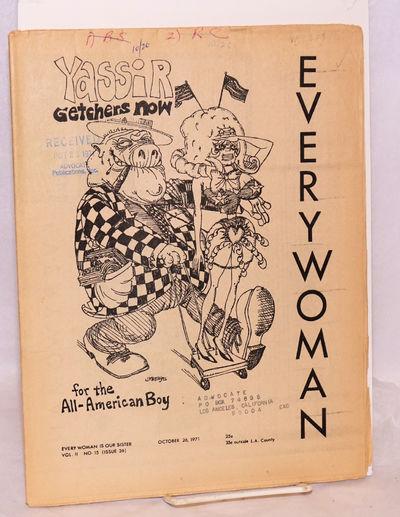 Venice, CA: Everywoman, 1971. Newspaper. 20p., folded tabloid newspaper, photos, ads, services, cale...