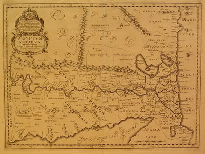 Amsterdam: Jansson, J., 1684. unbound. very good. Map. Uncolored engraving. Image measures 14.5