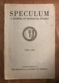 image of The Esplumoir Merlin A Study in Its Cabalistic Sources  Speculum A Journal Of Mediaeval Studies April 1946 Volume XXI, Number 2 April, 1946