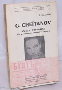 image of G. Cheïtanov: Pages d'histoire du mouvement libertaire bulgare