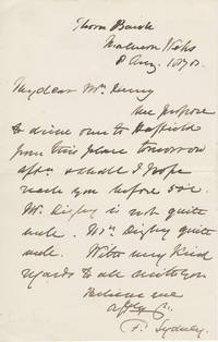 Letter from Frederick Barker, Anglican Bishop of Sydney