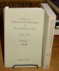 image of Index of Obituaries and Marriages in The (Baltimore) Sun, 1871-1875  (two-volume set)