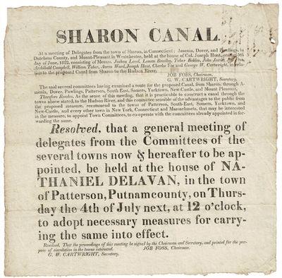 , 1822. Broadside approx. 9