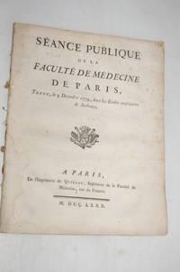 SÉANCE PUBLIQUE de la Faculté de Médecine de Paris, tenue, le 9...