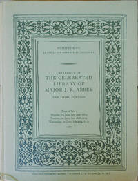Catalogue of the Celebrated Library of Major J. R. Abbey. The Third Portion