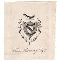 Armorial Bookplate of Elliott Armstrong, Esq., 19th Century
