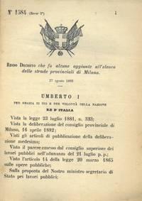che fa alcune aggiunte all\'elenco delle strade provinciali di Milano.