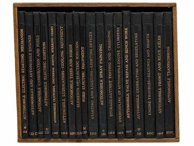 PA: International Textbook Company. Hard Cover. Very Good/No Jacket. 18 volumes inside wooden box. W...