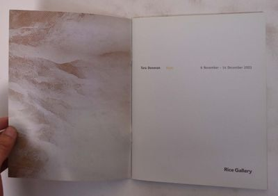 Houston, Tx: Rice University Art Gallery, 2004. Softcover. VG. Tan and white Illustrated wraps, 28 p...