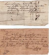 TWO (2) HANDWRITTEN DOCUMENTS, DATELINED KERNS LANDING, 1856 & 1857