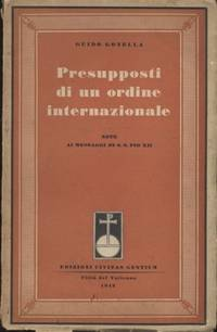 PRESUPPOSTI DI UN ORDINE INTERNAZIONALE