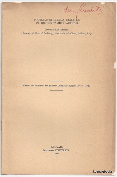 Louvain: Imprimerie Ceuterick, 1962. First Edition. Wraps. Very Good. First Edition. 889-905 pages. ...