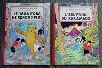 "image of LES AVENTURES DE JO, ZETTE ET JOCKO.  LE RAYON DU MYSTERE. EPISODE 1. LE ""MANITOBA"" NE REPOND PLUS.  EPISODE 2. L'ERUPTION DU KARAMAKO.  2 BOOKS IN TOTAL."