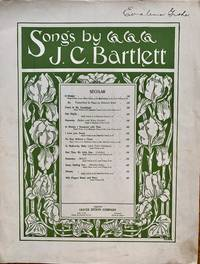 A DREAM (SONGS BY J.C. BARTLETT) - PIANO & VOCAL by J.C. BARTLETT - 1895-01-01 - from Epilonian Books (SKU: 20191227001)