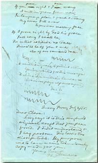 "[Autograph Manuscript, Signed (""M.T.""), Incorporating an Autograph Note, Signed]"